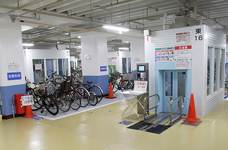 Japan: Kansai Station Underground Bicycle Parking Lot, Tokyo
